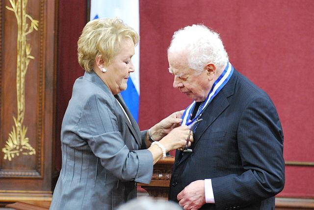 Pauline Marois and Bernard Lamarre