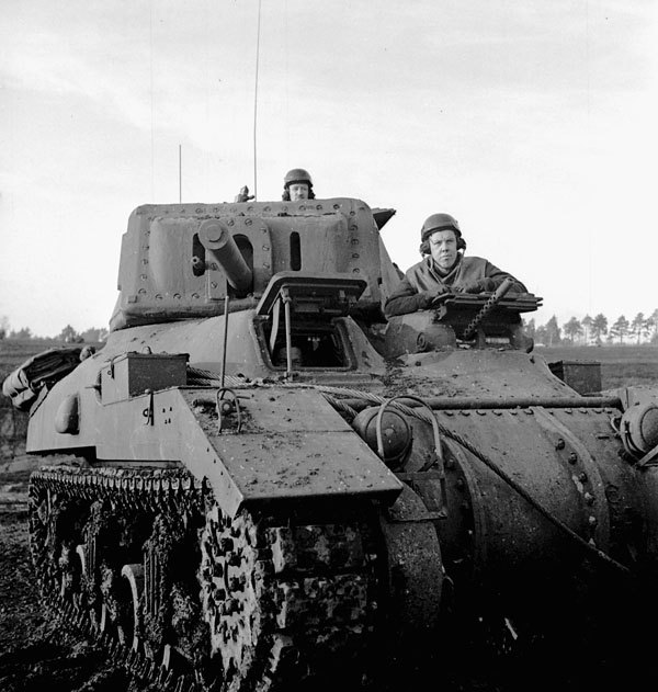 Ram II du Royal Canadian Armoured Corps en Angleterre, décembre 1942