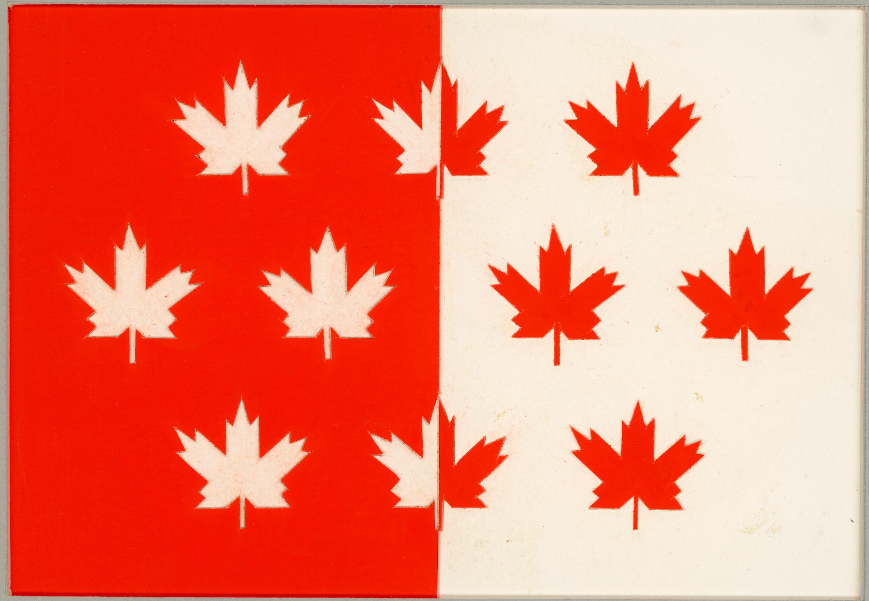 Motif de drapeau proposé : dix feuilles