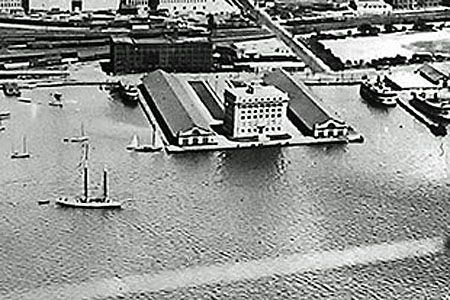 Toronto Harbour Commission Building -  Aerial View