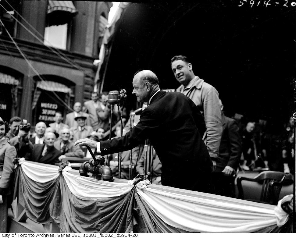 Cérémonie d'inauguration des travaux, 8 septembre 1949