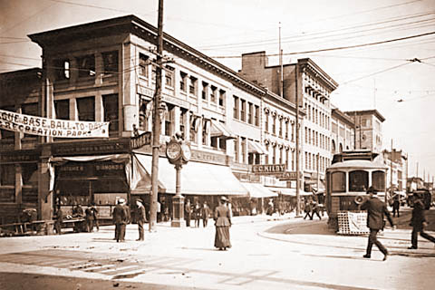 Vancouver Intersection, c.1900