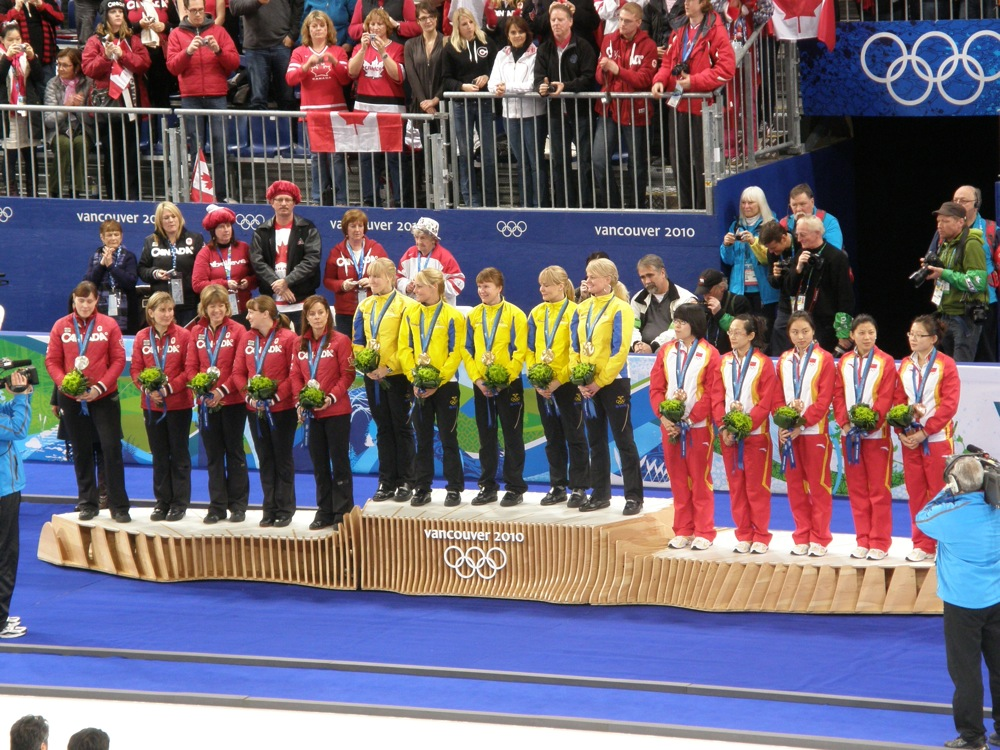 Curling Medallists Vancouver 2010
