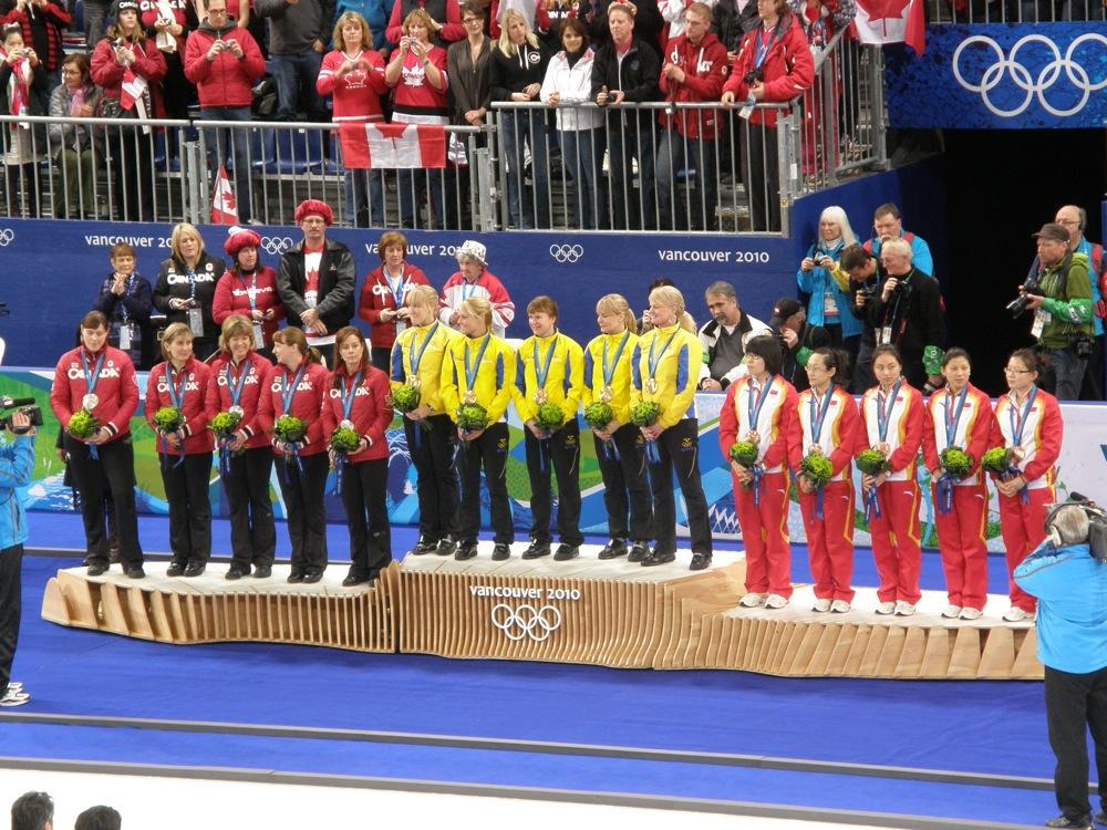 Curling Medallists Vancouver 2010