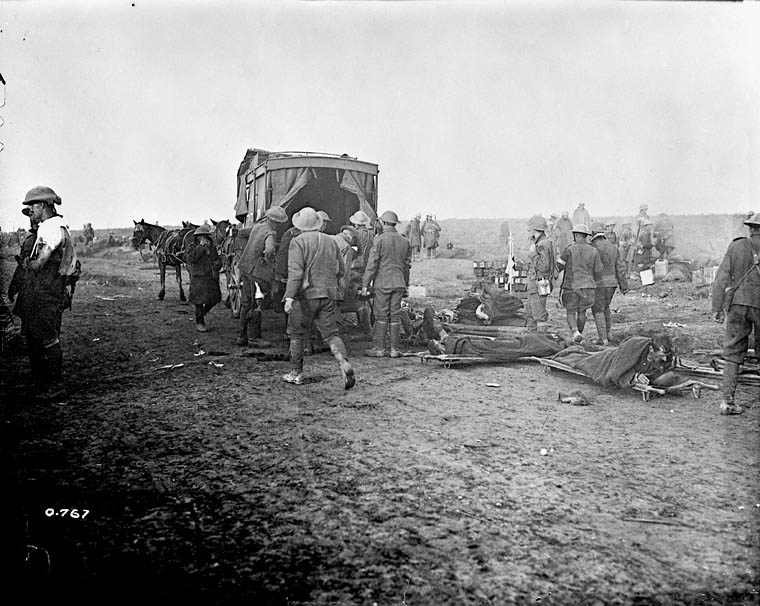 Wounded at the Somme