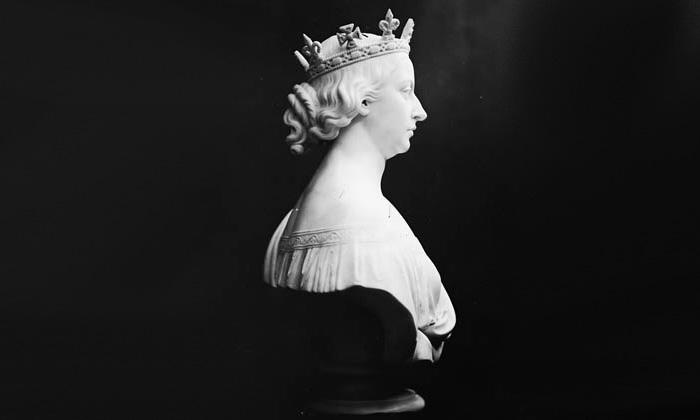 Buste de la reine Victoria, vu de profil, sculpté par William James Topley