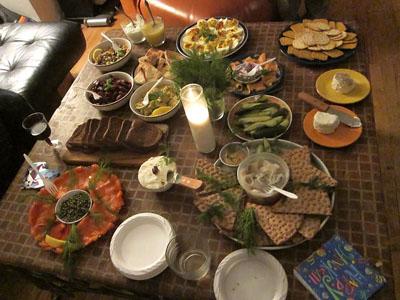 Chanukah, meal