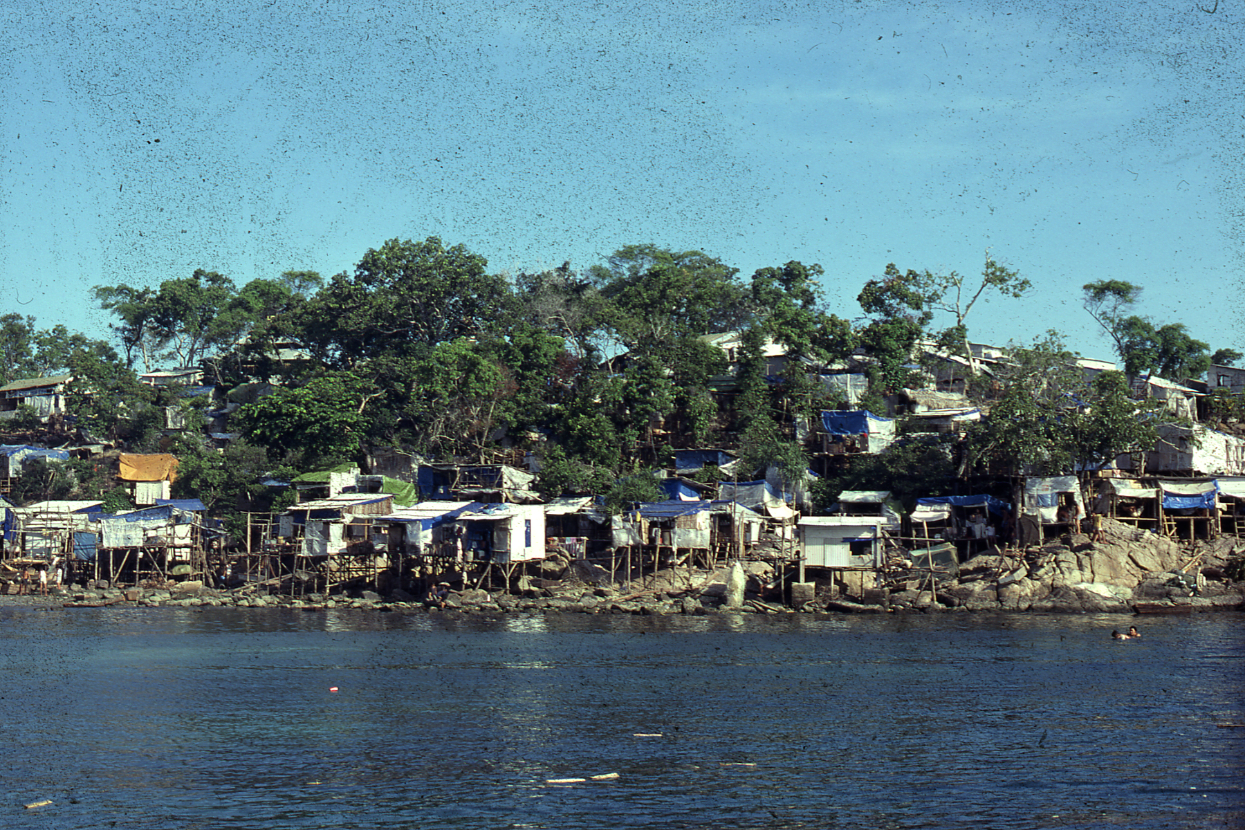Bidong, Malaisie vue de la mer, Octobre 1979