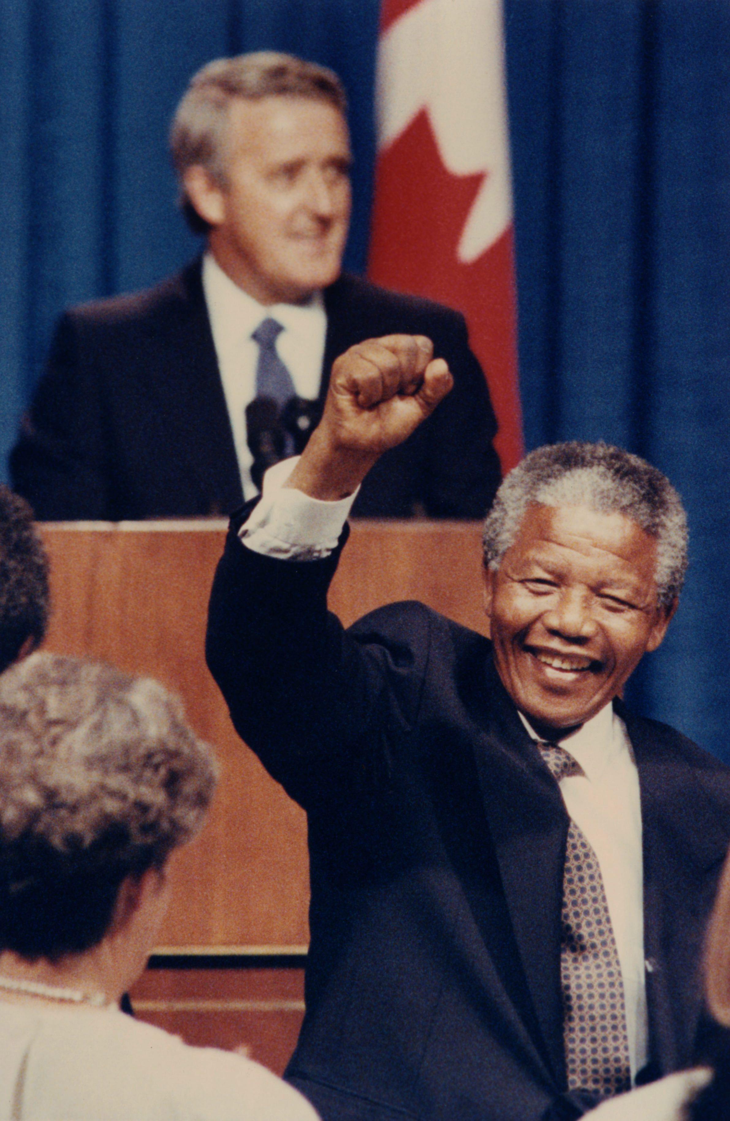Mulroney and Mandela
