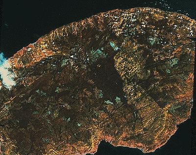 Gaspé Peninsula, Satellite Image