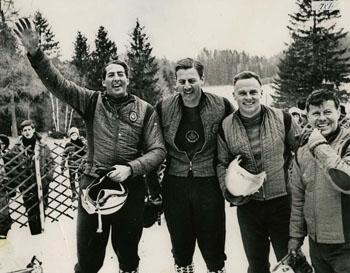 Les premiers bobeurs canadiens