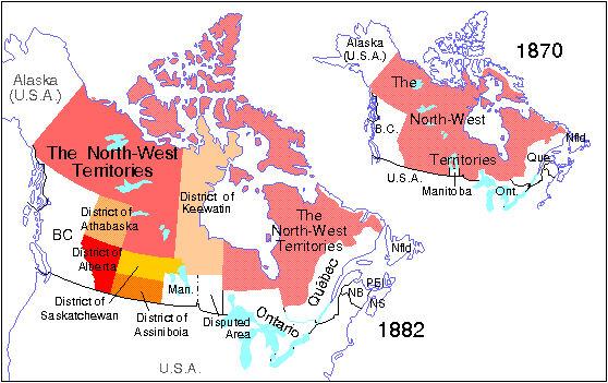 North-West Territories, 1882