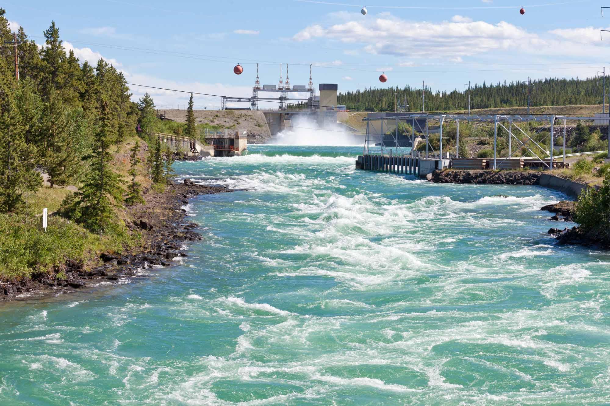Whitehorse Hydro Power Dam Spillway