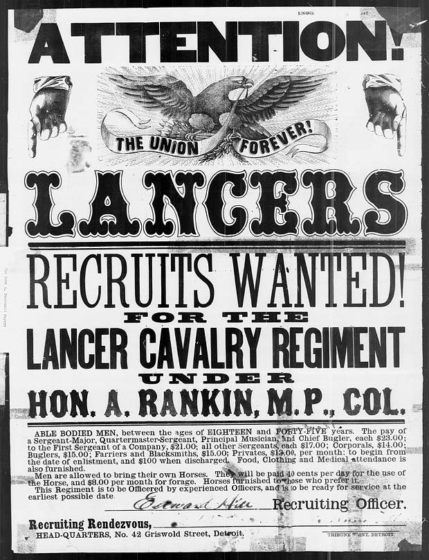 American Civil War Recruiting Poster