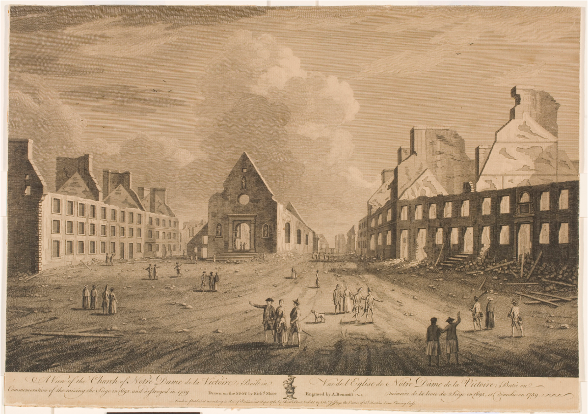 View of the Basse-Ville in Québec destroyed by British artillery fire, 1759
