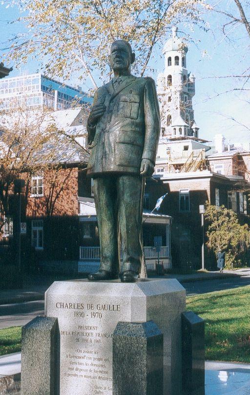 De Gaulle Monument, Québec City