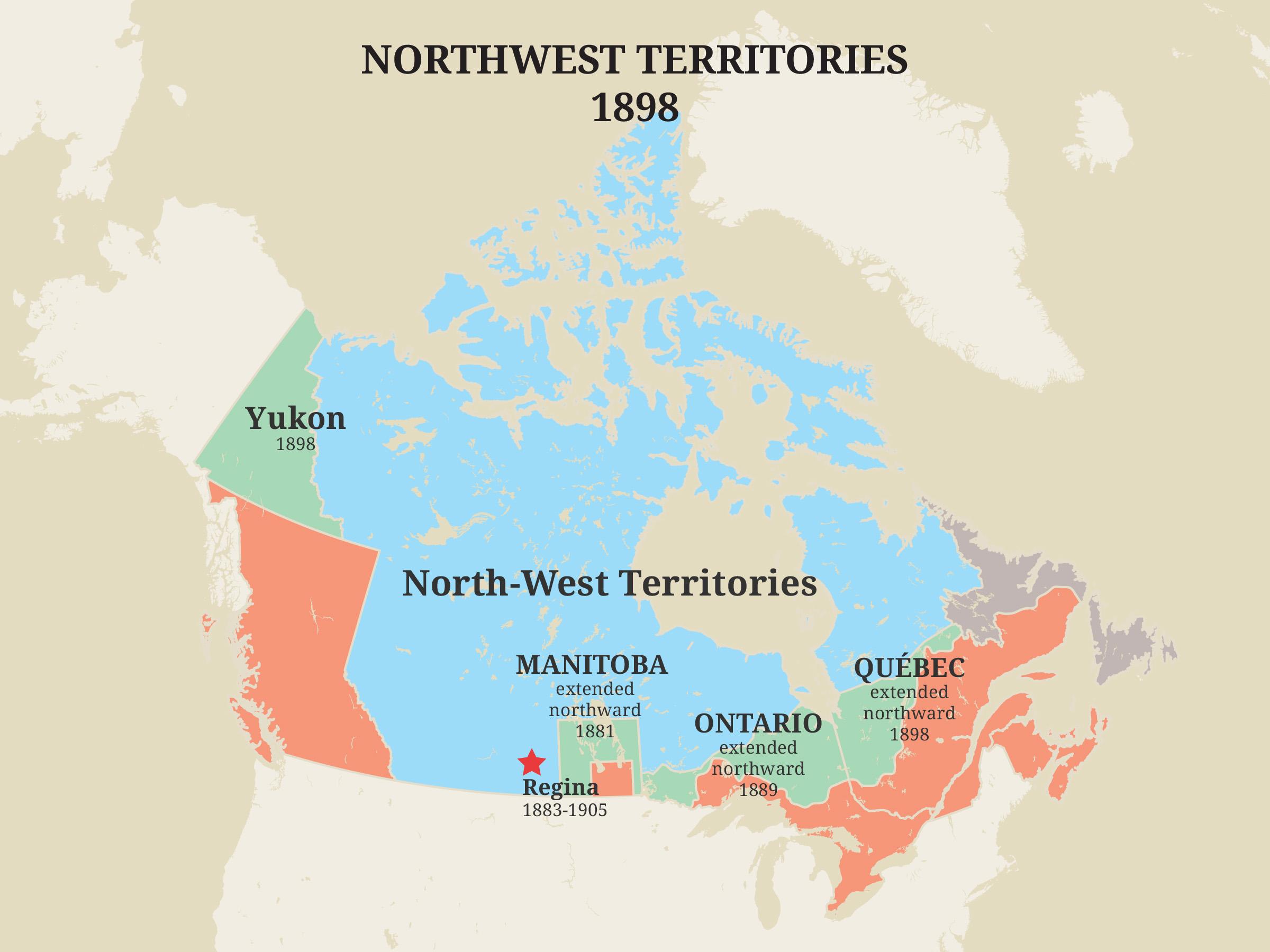 Territoires du Nord-Ouest, 1898