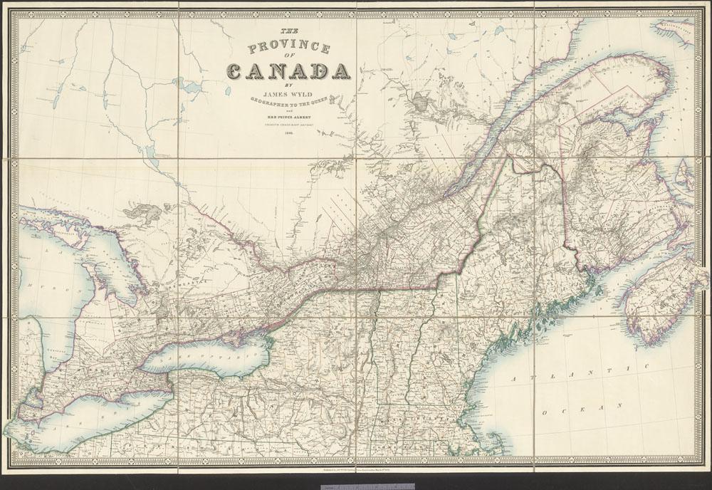 La province du Canada (matériel cartographique)