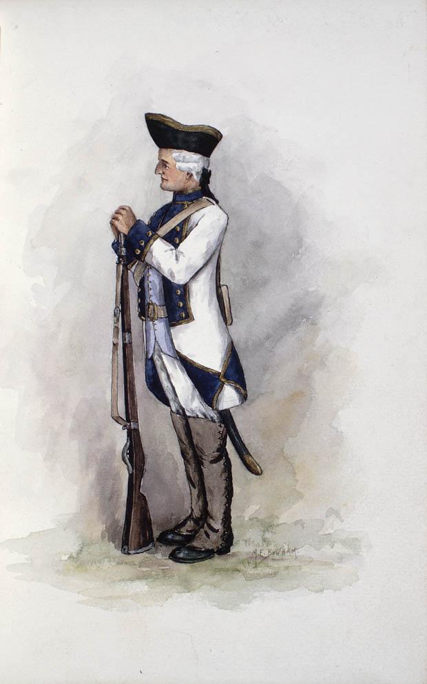 Un soldat des Compagnies franches de la Marine