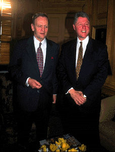 Prime Minister Jean Chretien with US President Bill Clinton