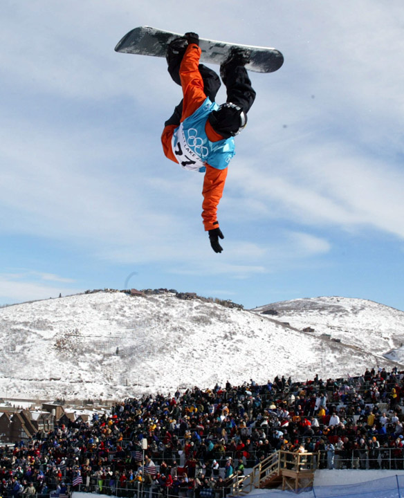 Trevor Andrew of Falmouth, NS, at the Salt Lake City 2002 Olympic Winter Games.