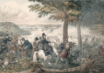 """""""Battle of the Thames"""" (Moraviantown), Emmons"""