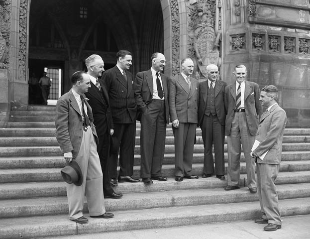 Delegation negotiating the union of Newfoundland with Canada