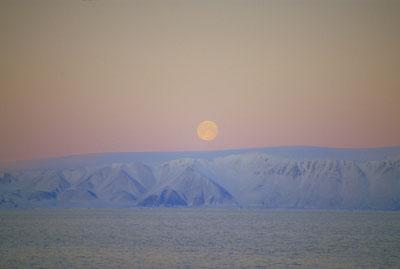 Moonrise, Ellesmere Island