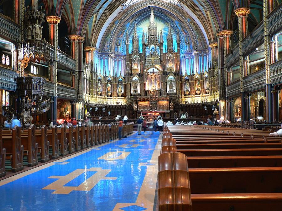 Intérieur de la basilique Notre-Dame de Montréal