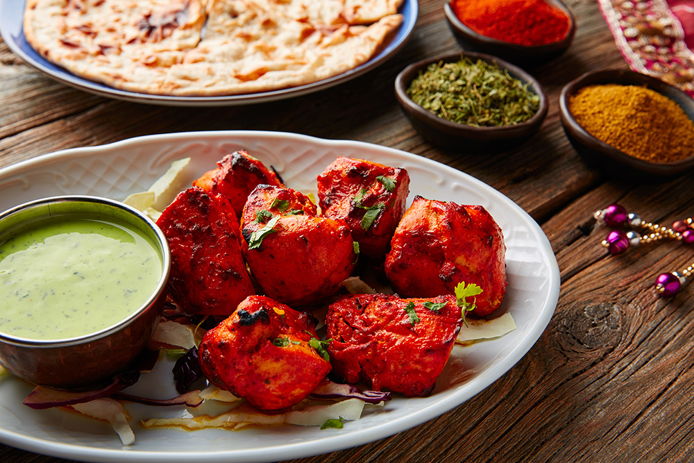 Chicken Tikka Indian Food and Spices