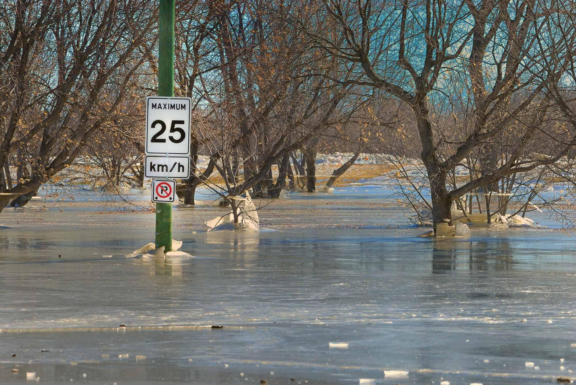 Spring Flooding, Selkirk, Manitoba.