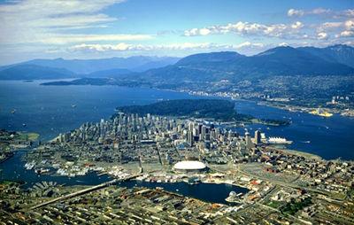 Vancouver, photo aérienne