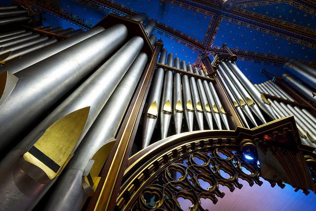 Détail des orgues de la Basilique Notre-Dame de Montréal, 2015
