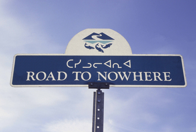 Road sign, Iqaluit, Nunavut