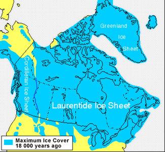Glaciation, il y a 18 000 ans