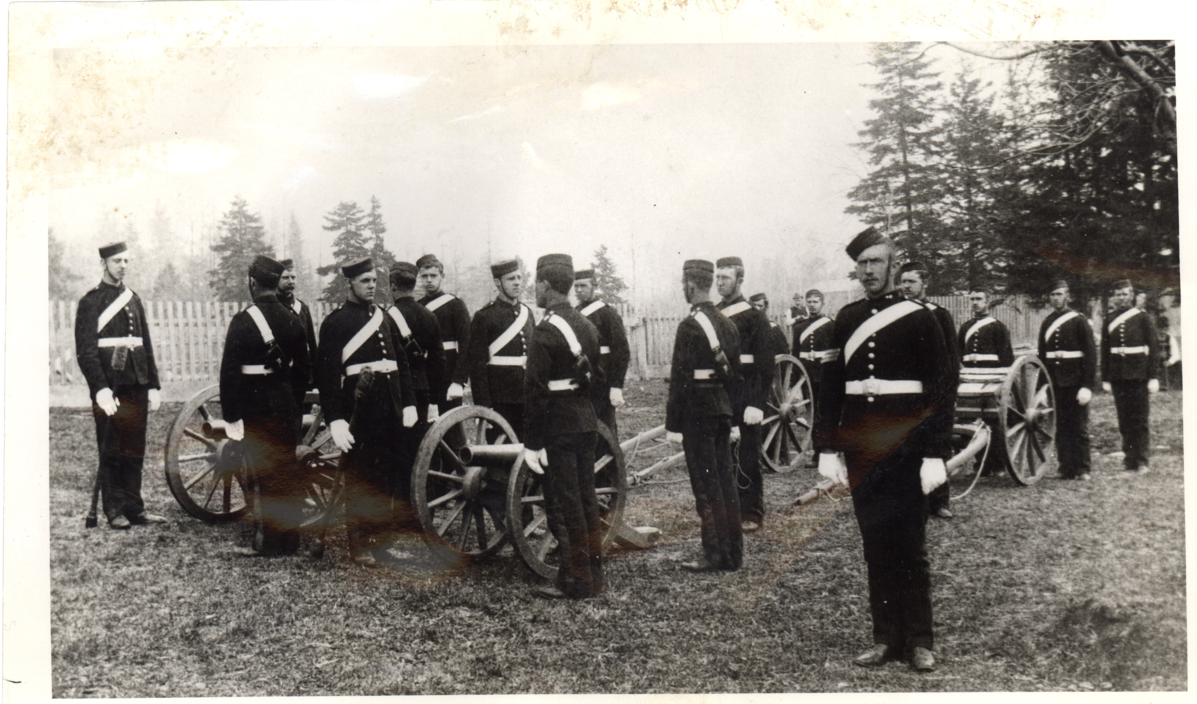 John McCrae and other Cadets Loading Canons