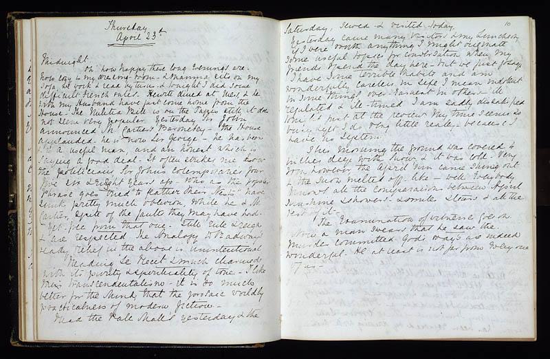 Diary of Lady Macdonald, 23 April 1868