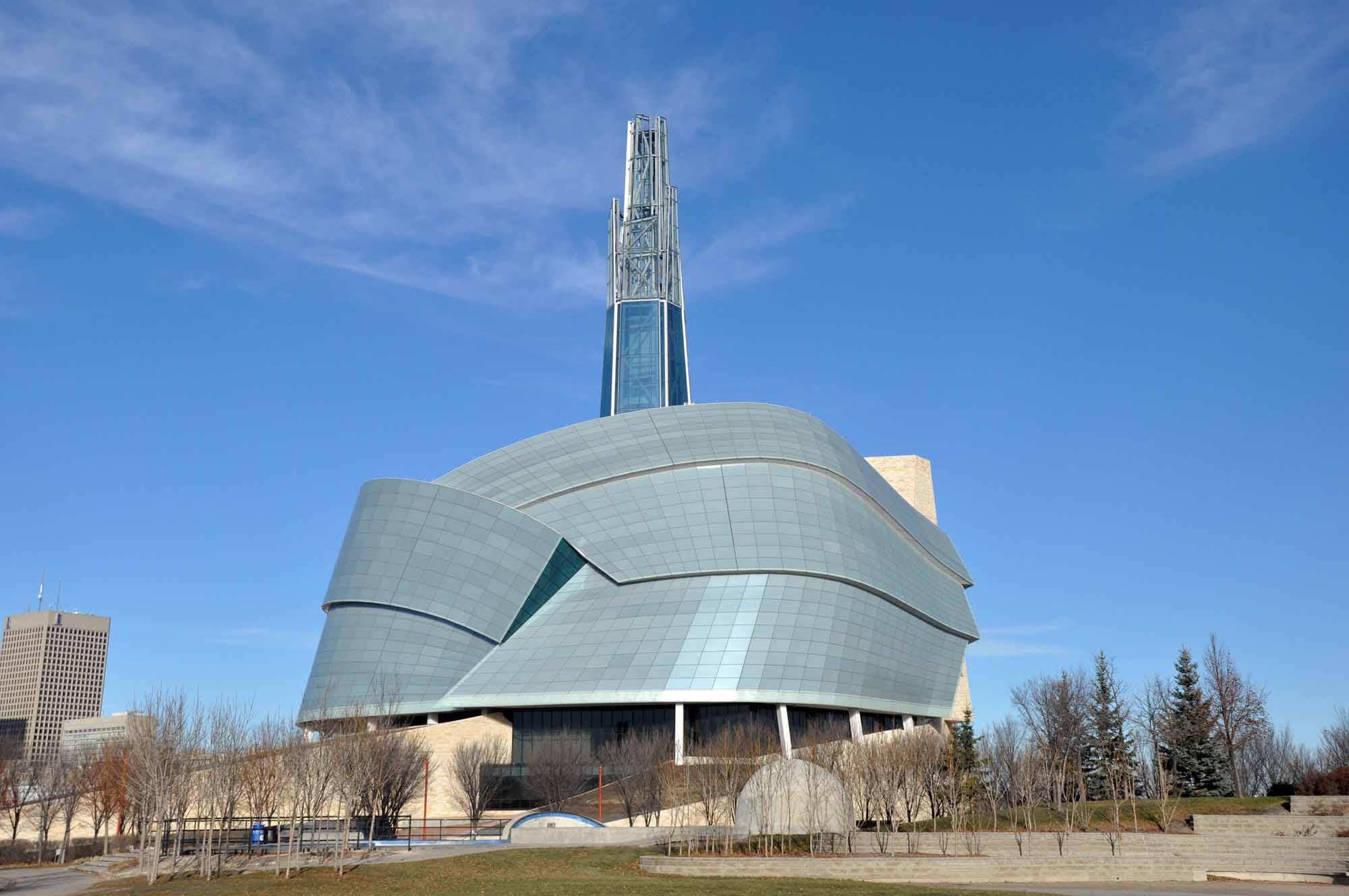 Le Musée canadien pour les droits de la personne à Winnipeg, au Manitoba