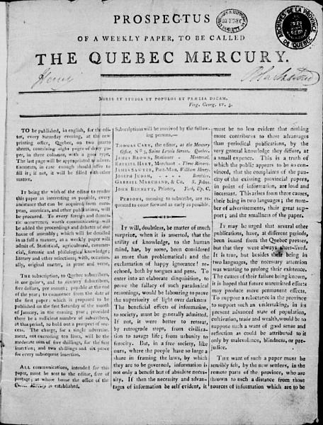 The Quebec Mercury