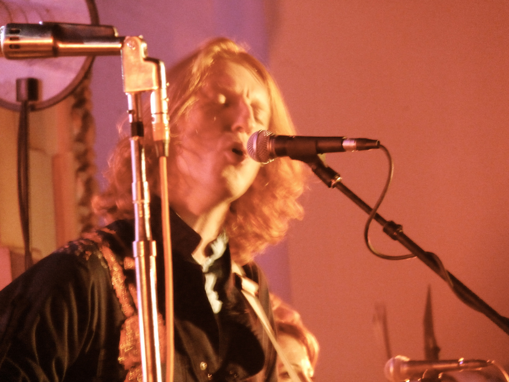 Arcade Fire performing in Los Angeles in 2011.