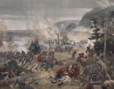 Le mort de sir Isaac Brock, la bataille des Hauteurs de Queenston
