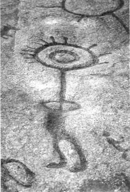 Petroglyph, solar being