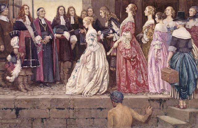 Arrival of the Brides (Filles du roi)