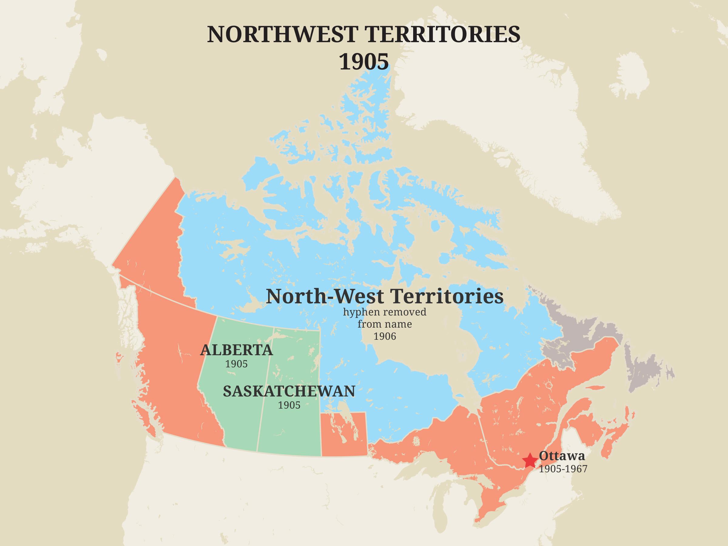 Territoires du Nord-Ouest, 1905