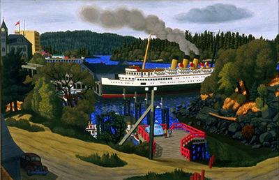 Steamer at the Old Wharf, Nanaimo