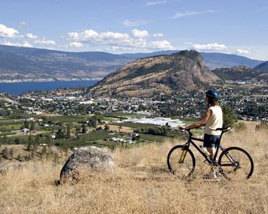 Promenade en bicyclette sur le mont Cartwright