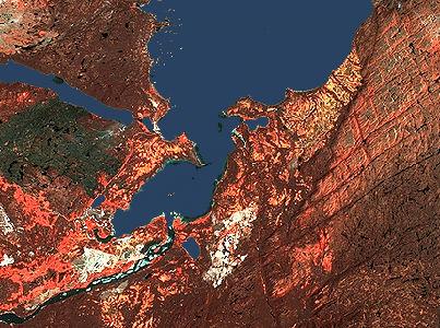 Happy Valley-Goose Bay, Satellite Image
