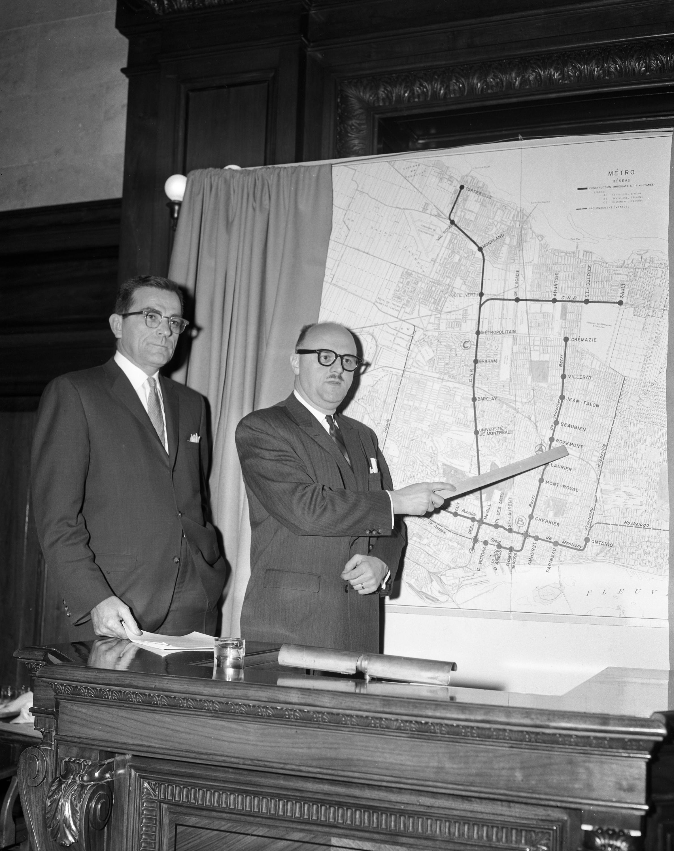 Métro de Montréal, dévoilement du réseau projeté, 1961