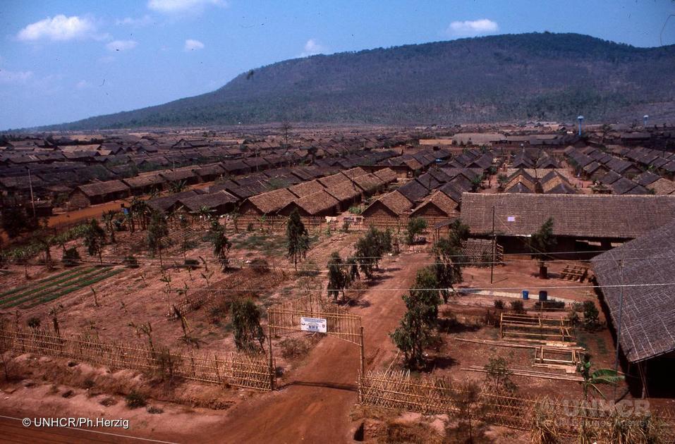 A Cambodian refugee camp, 1983