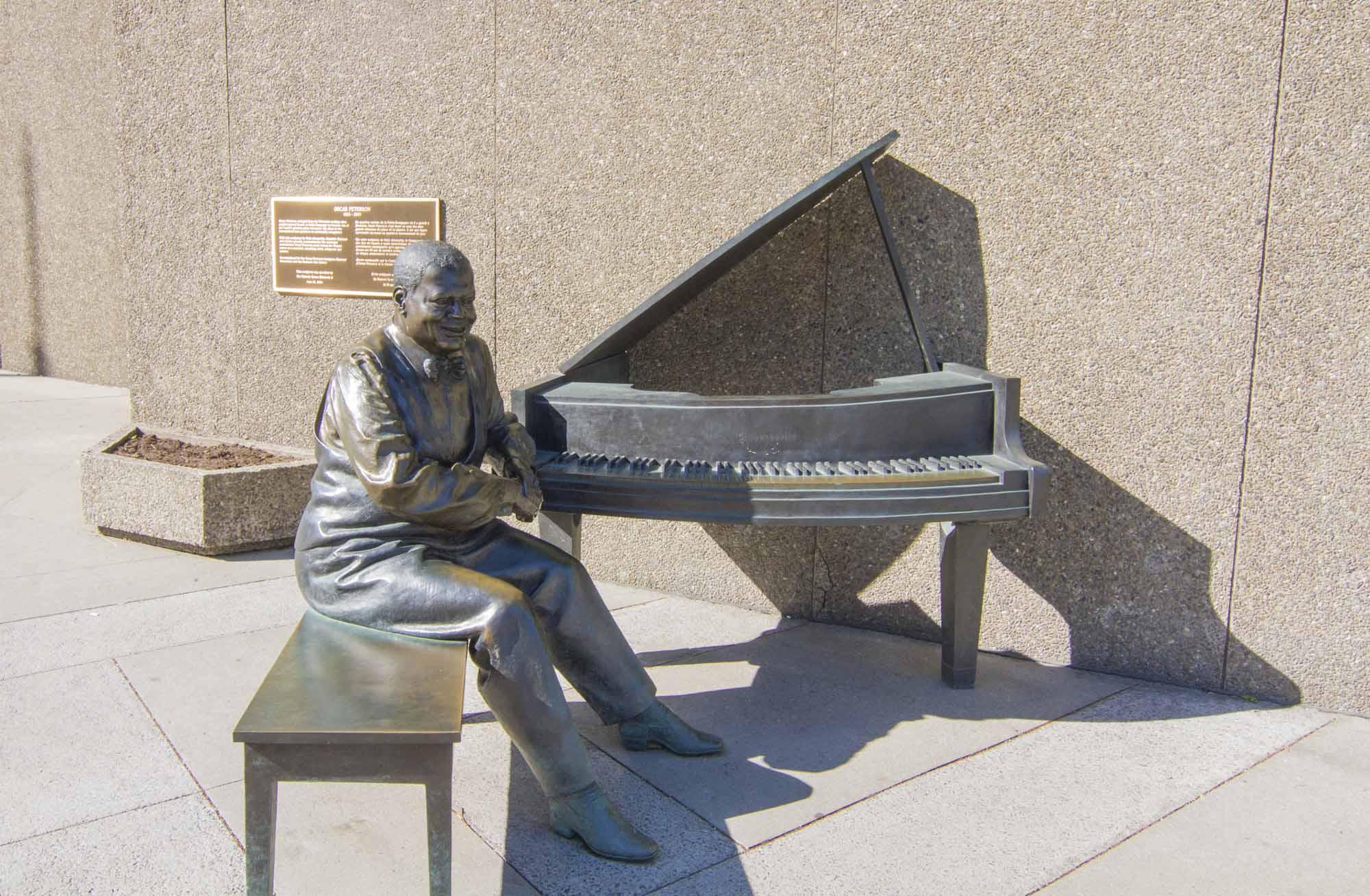 Oscar Peterson Statue